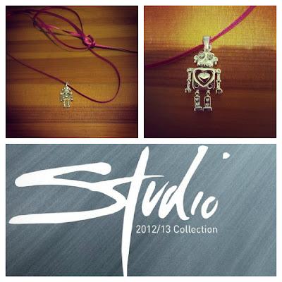 Balanga silver robot charm necklace KatSick