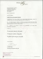 Surat Pengesahan Priority Dealer Public Gold