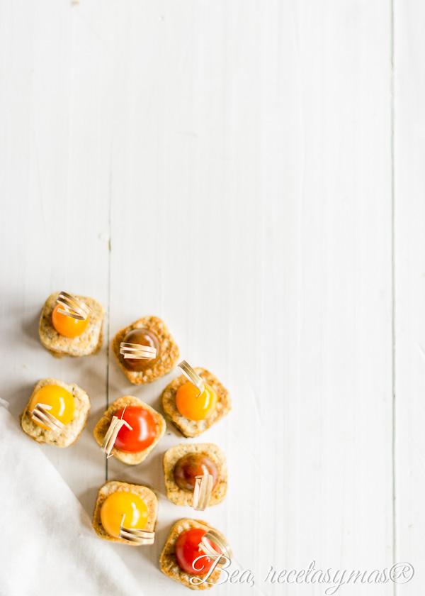 Bocaditos de tortilla de setas ostra