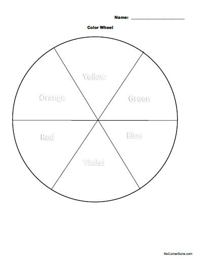 No Corner Suns Easy First Grade Color Wheel Coloring Page