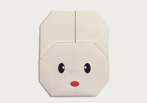Origami Tutorials - How to make a face of white Rabbit with Video tip