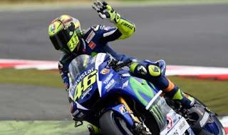 MotoGP Inggris 2015: Rossi Tercepat Sesi Pemanasan