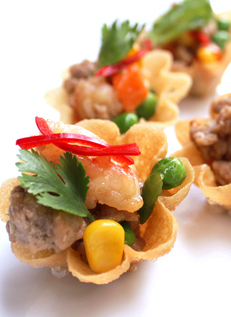 กระทงทอง_Pastry Shells with Minced Chicken_貝の形の揚げたパン