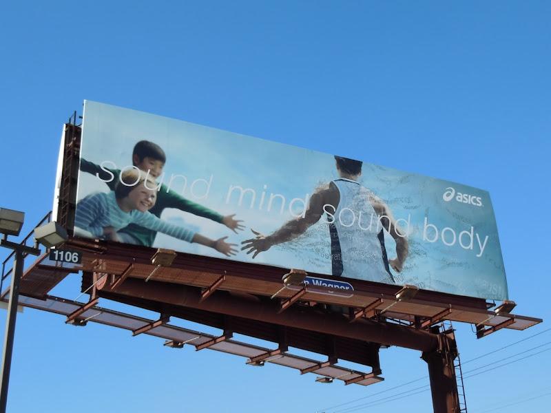 Asics Sound Mind Sound Body billboard