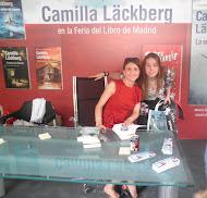 Con Camila Läckberg en la Feria del Libro de Madrid 2012
