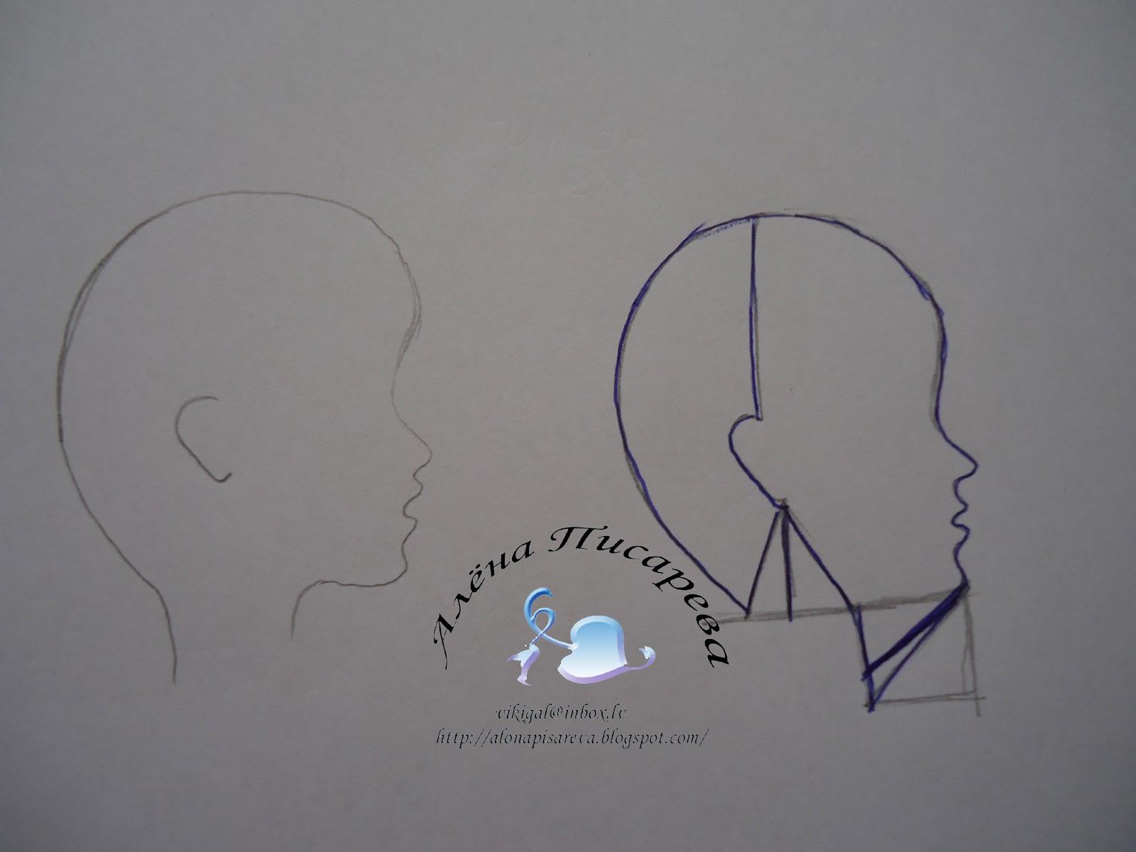 выкройка головы куклы большеножки