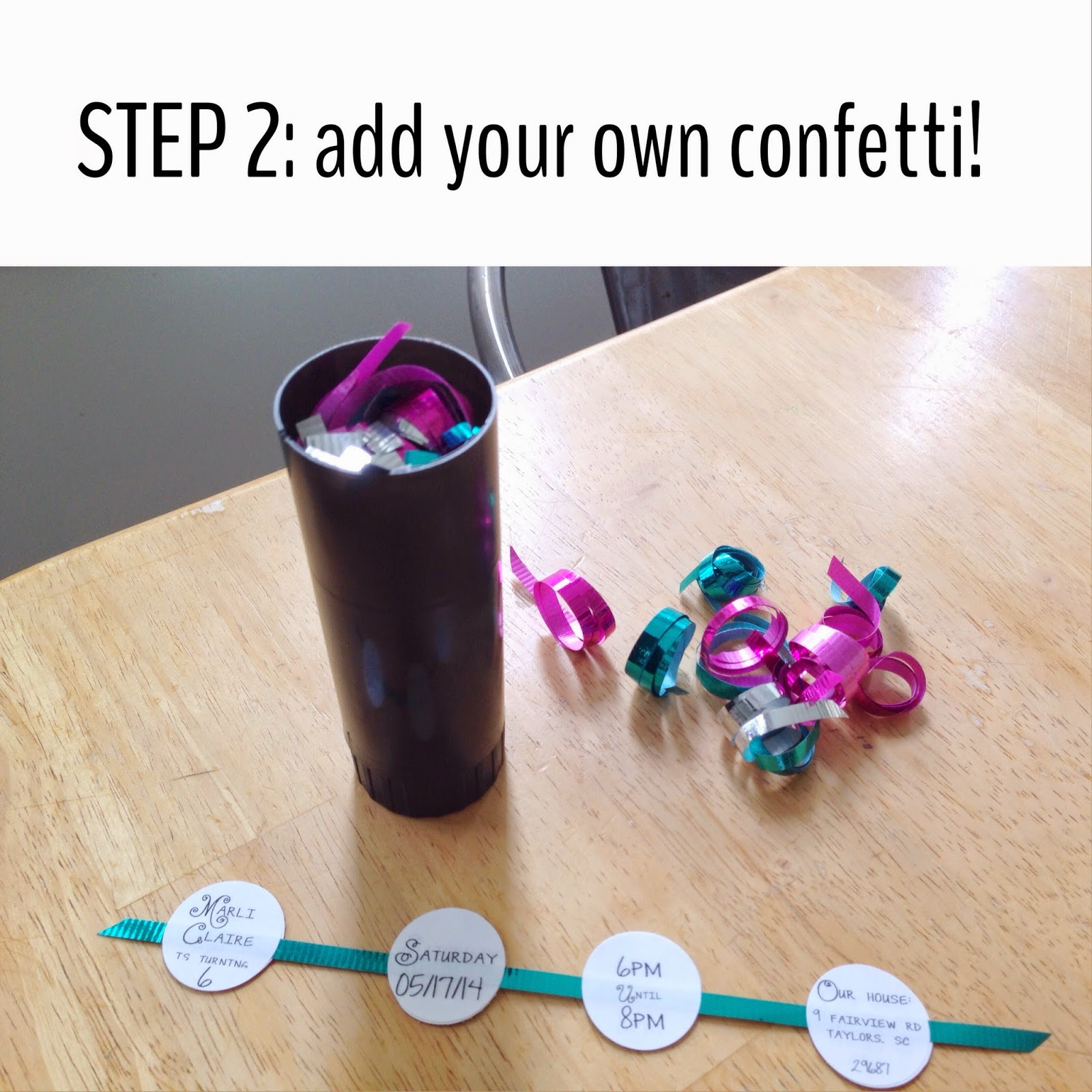 how to use a party popper