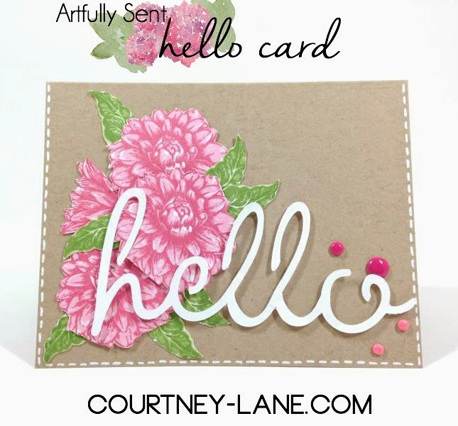 Artfully Sent Hello card
