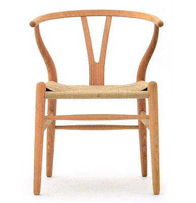 photograph of the wegner wishbone chair