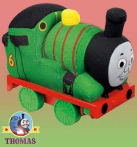 Stunning Night train Thomas and friends Percy the saddle tank engine Thomas soft toy cushion totally huggable