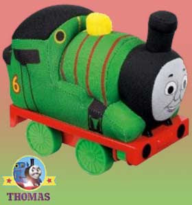 Night train Thomas and friends Percy the saddle tank engine Thomas soft toy cushion totally huggable