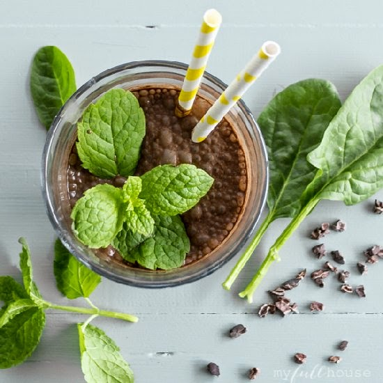 Picture of banana mint smoothie recipe