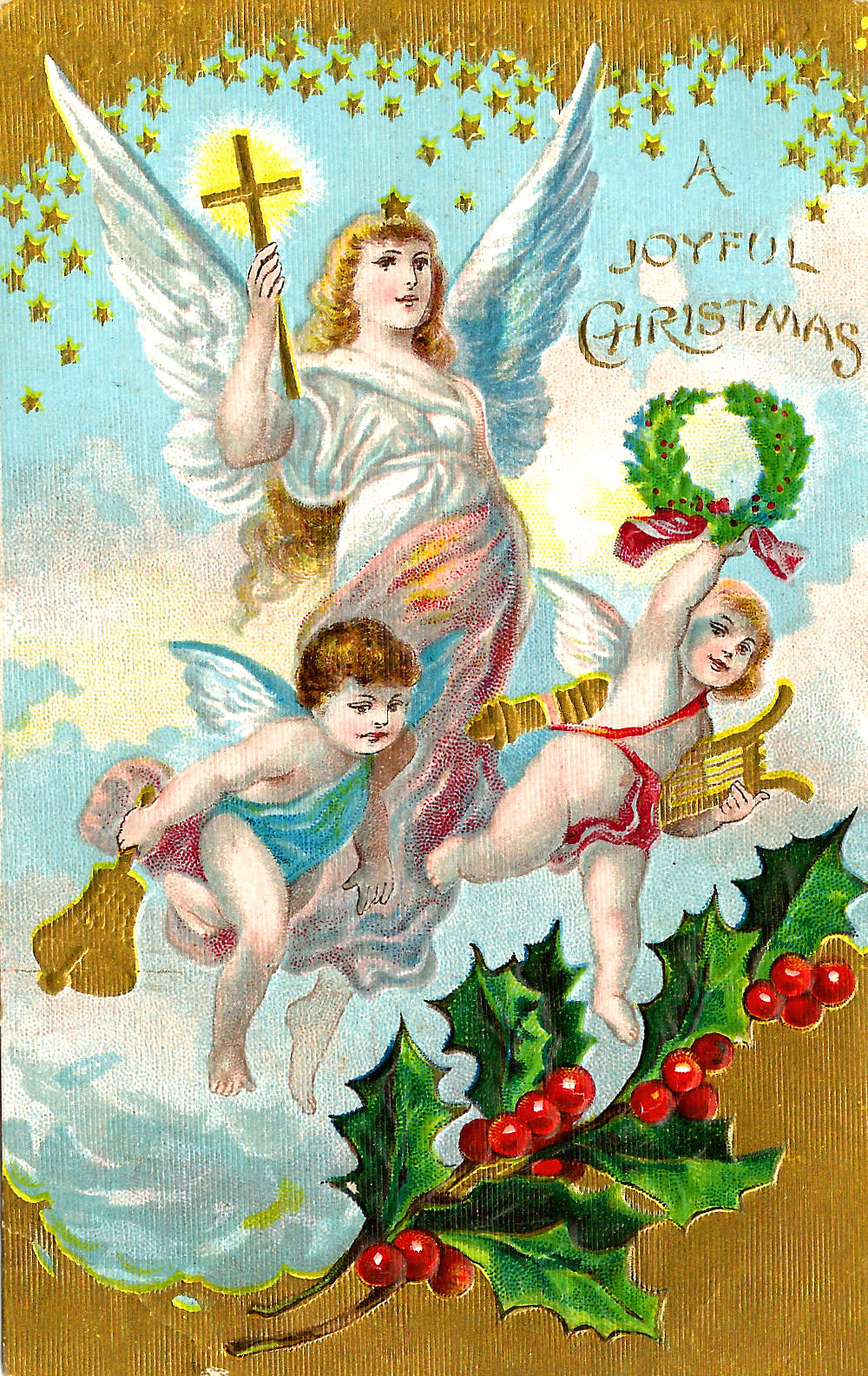 Antique images free christmas clip art christmas angels for Christmas angels