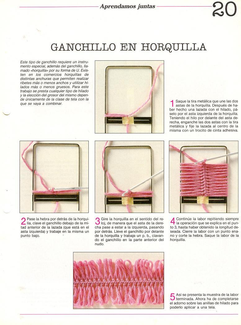 Hermosa Patrones De Horquilla Crochet Imágenes - Patrón de Vestido ...