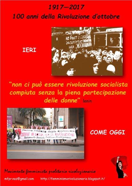 Centenario della Rivoluzione d'ottobre - le donne e il loro doppio ruolo rivoluzionario
