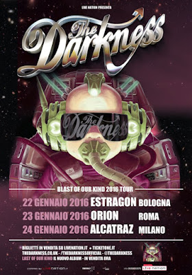 the darkness - tre concerti - italia - 2016