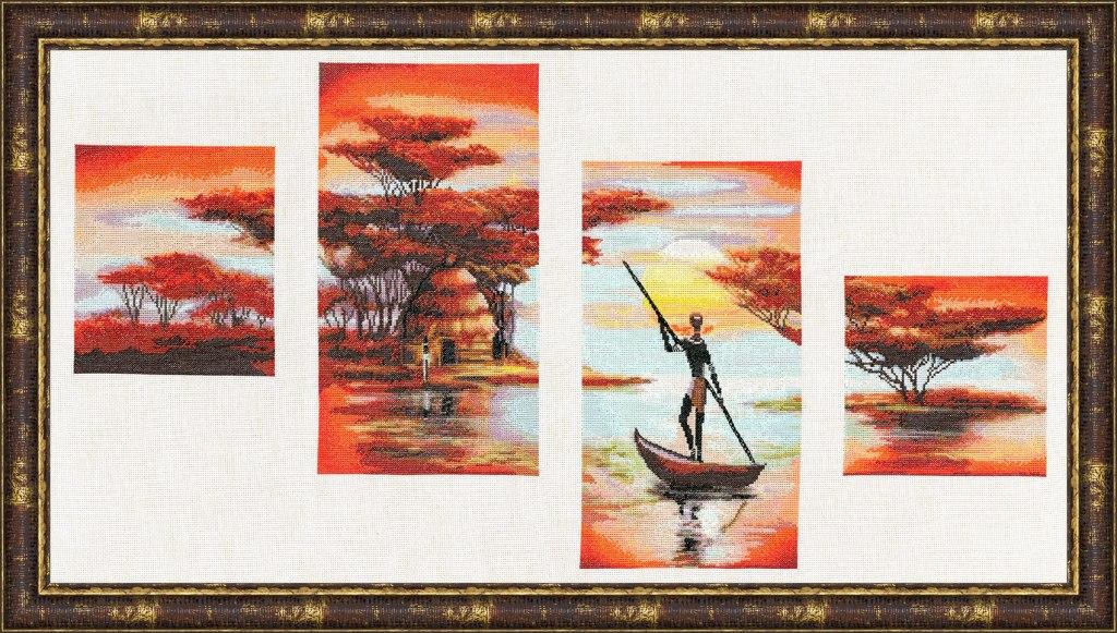Вышивка крестом африканские истории золотое руно 61