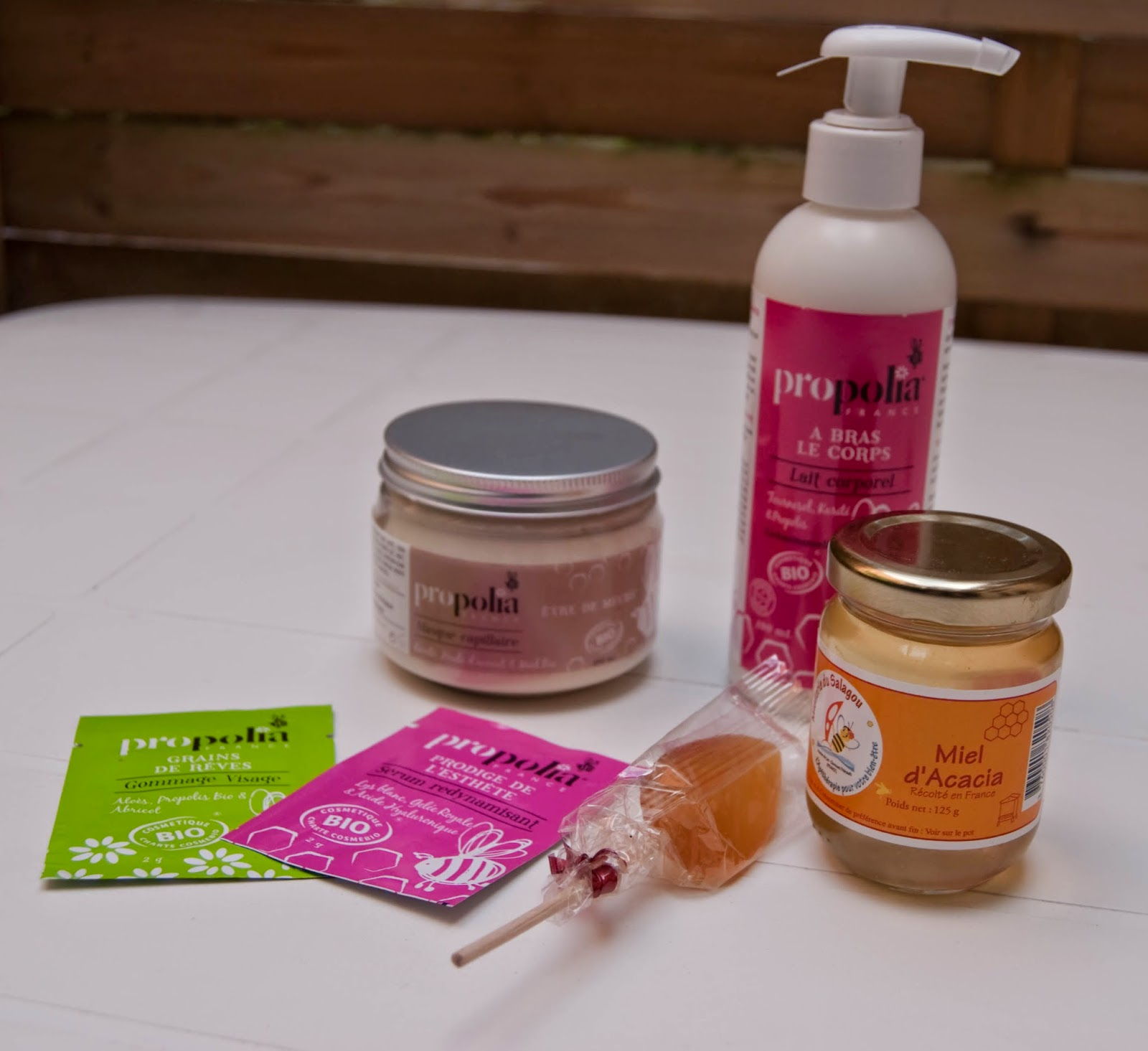 propolia, masque cheveux, lotion pour le corps, miel