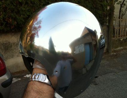 Peinture auto moto test de la peinture effet chrom for Peinture chrome effet miroir