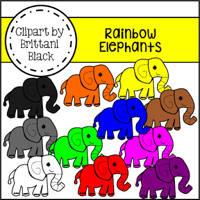 https://www.teacherspayteachers.com/Product/Rainbow-Elephants-Clipart-2260641