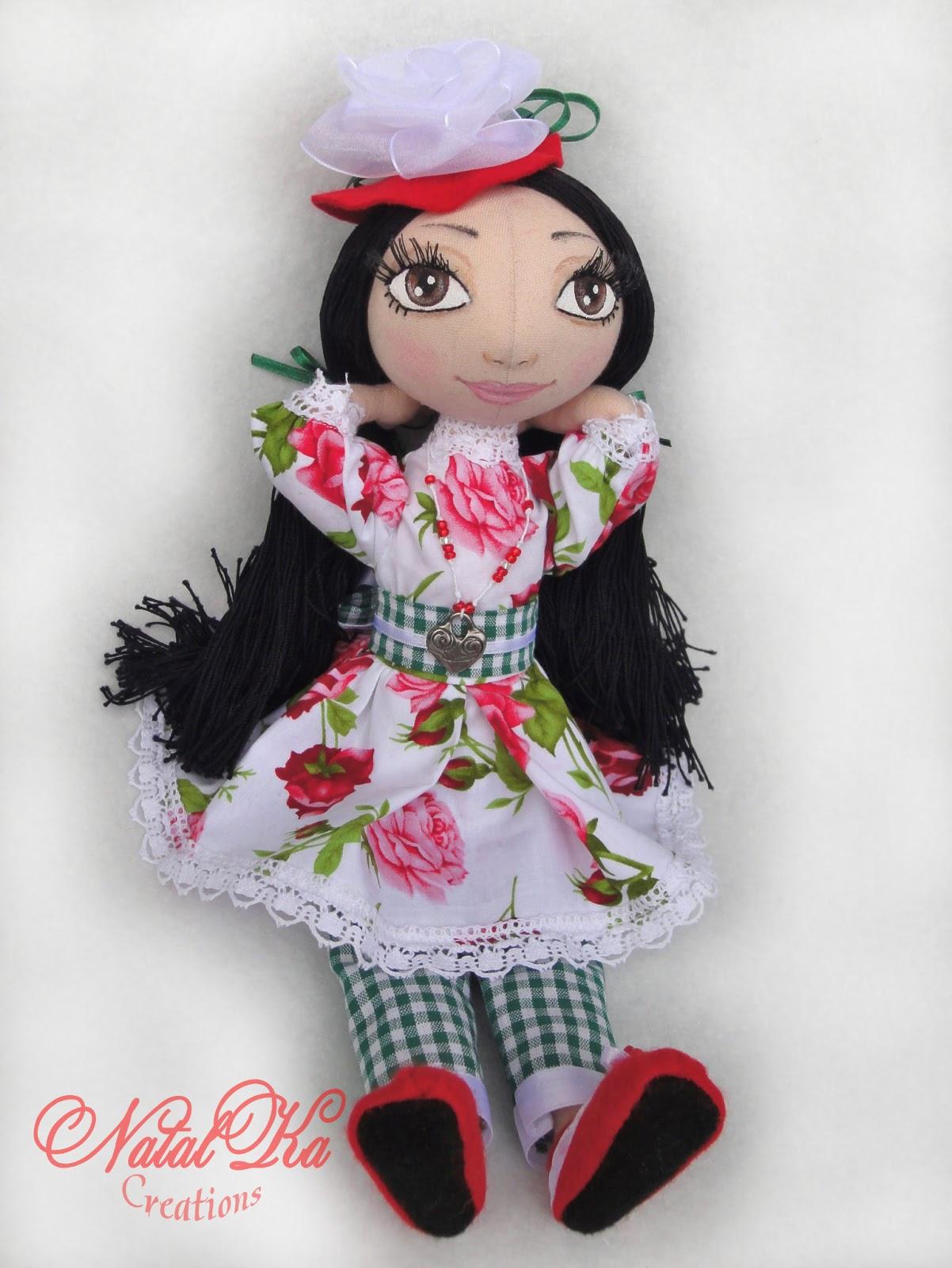 Авторская текстильная кукла ручной работы от NatalKa Creations.
