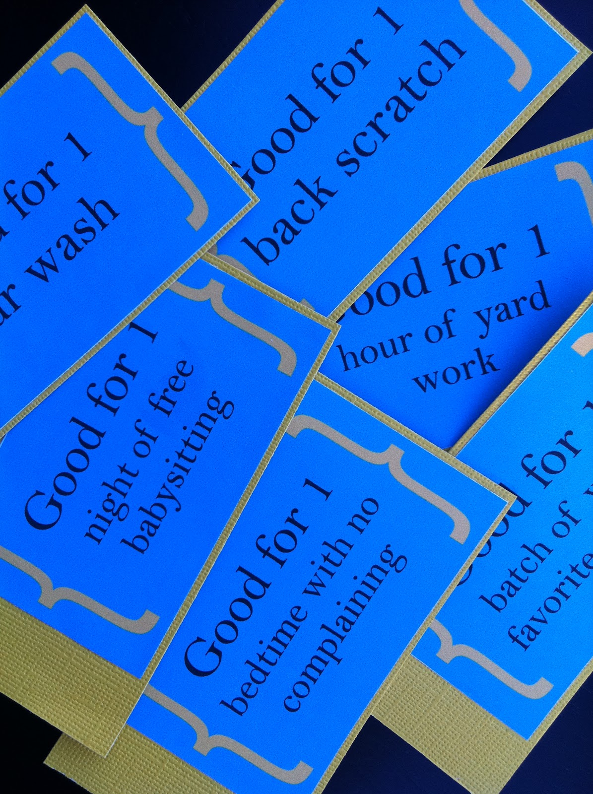 utah county mom fathers day ideas good for one coupons i came up a template using microsoft publisher printed it out glued it to colored card stock and stapled them together adding some ribbon at the