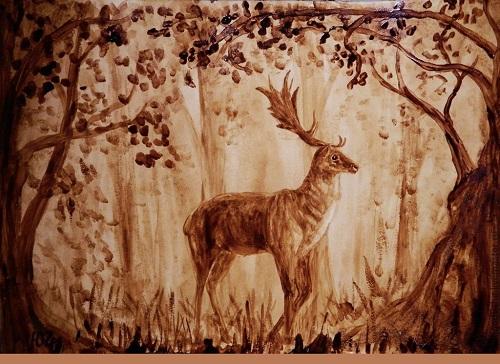 Coffee paintings by Julia Latte