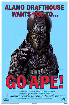 "Mondo x Sideshow Collectible Planet of the Apes Screen Print Series - ""GO APE!"" Bonus Poster by Jason Edmiston"