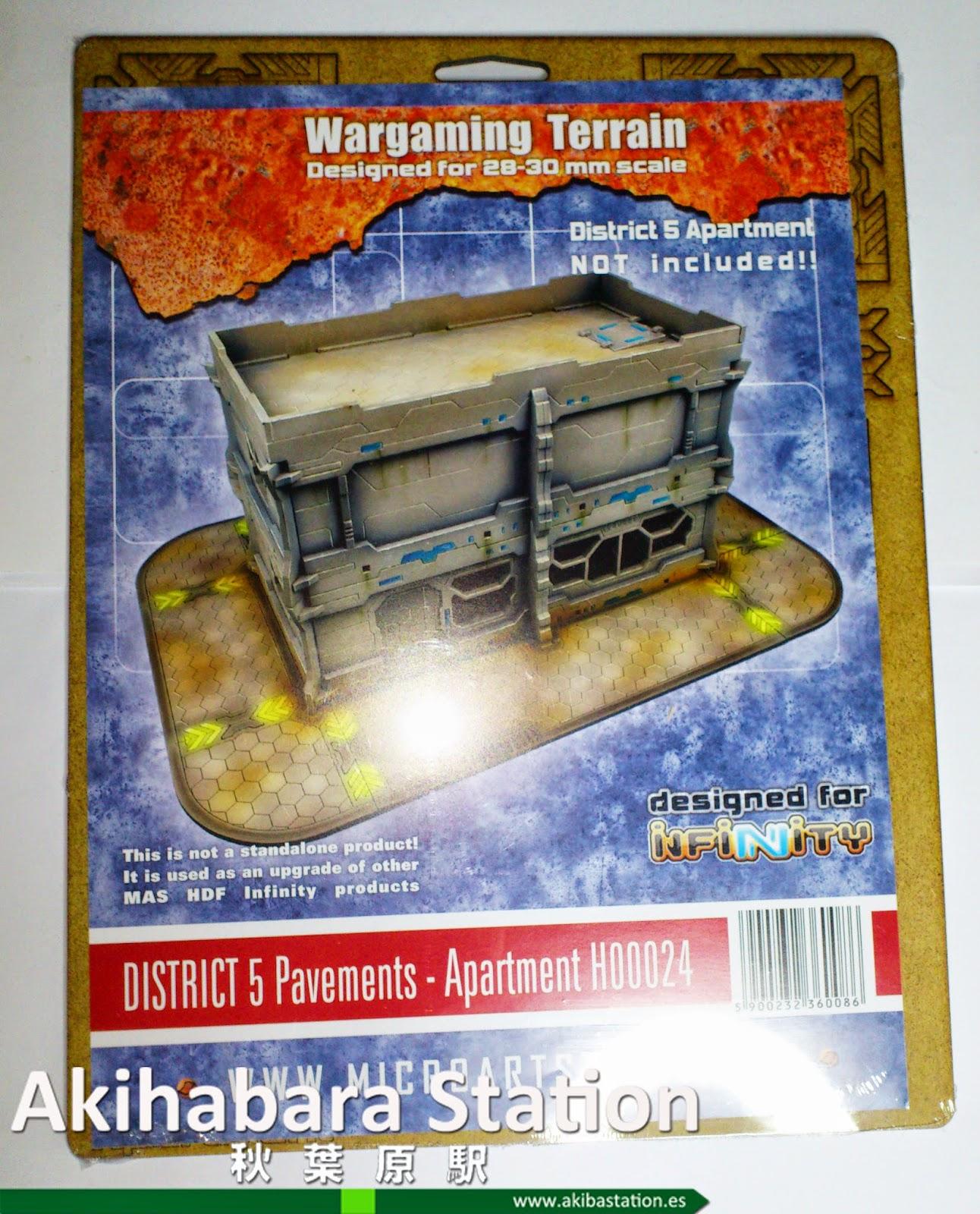 Wargames: Escenografía District-5 pavements (review) [Micro Art Studios].