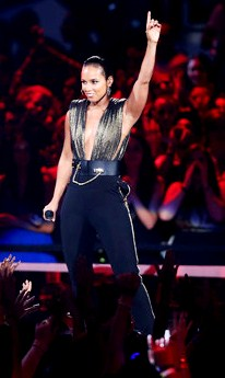 Alicia Keys cantando en los MTV 2012