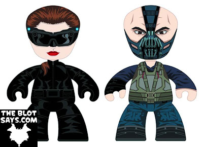 Catwoman & Bane The Dark Knight Rises 6 Inch Mez-Itz Vinyl Figures by Mezco Toyz