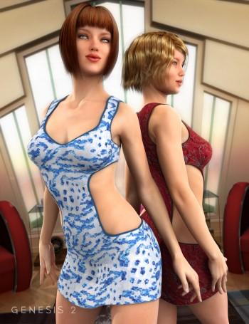 Club 58 Dress Textures
