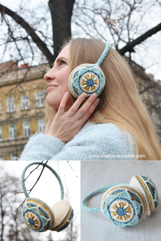 Crochet Free Pattern Muff : Floral Ear Muffs: Free Crochet Pattern LillaBj?rns ...
