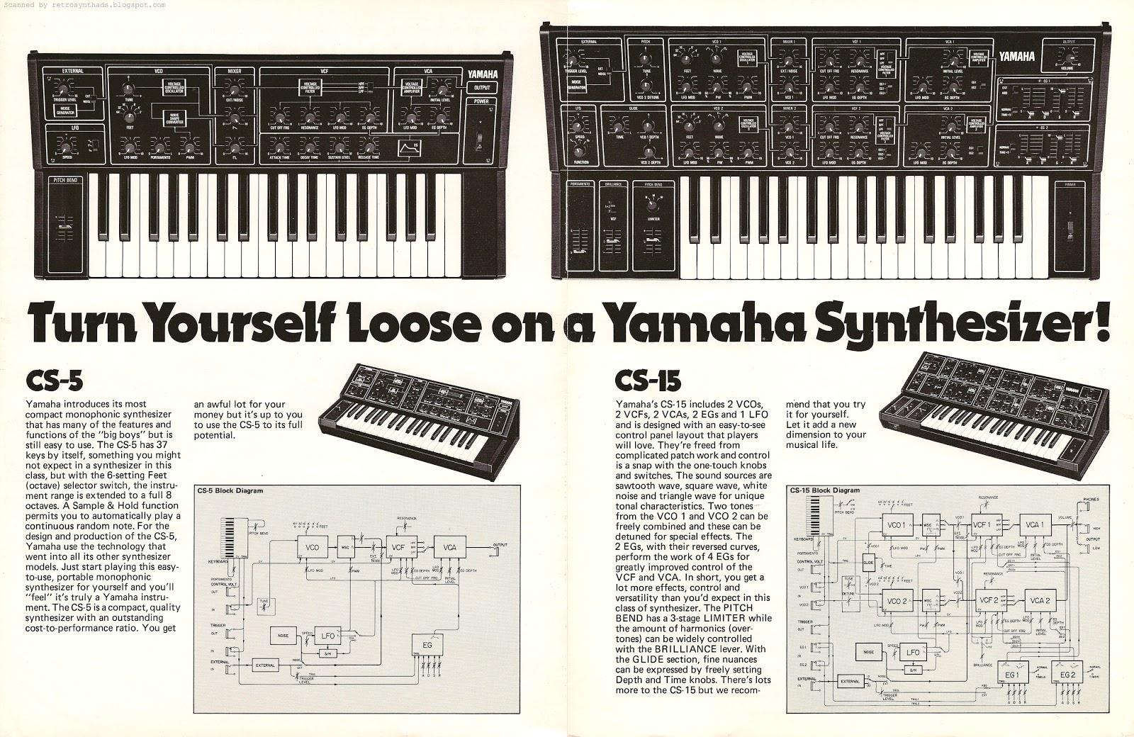 retro synth ads yamaha cs 5 and cs 15 turn yourself loose on a rh retrosynthads blogspot com Yamaha EX5 Yamaha FS1R