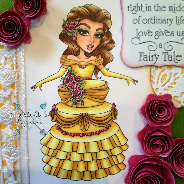 Sassy Studio Designs Beauty and the Beast Cake
