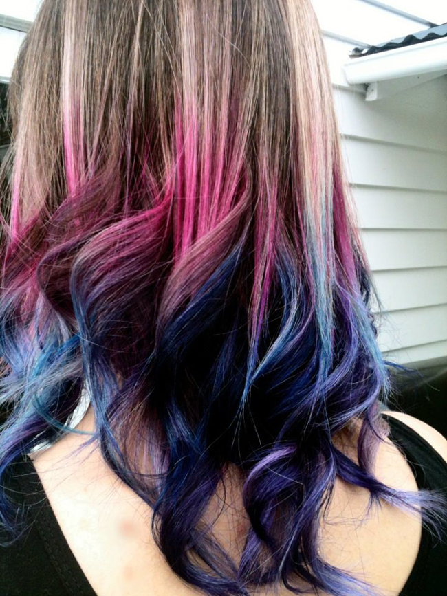 Riz Made This How To Dye The Tips Of Your Hair Purple Blue Pink