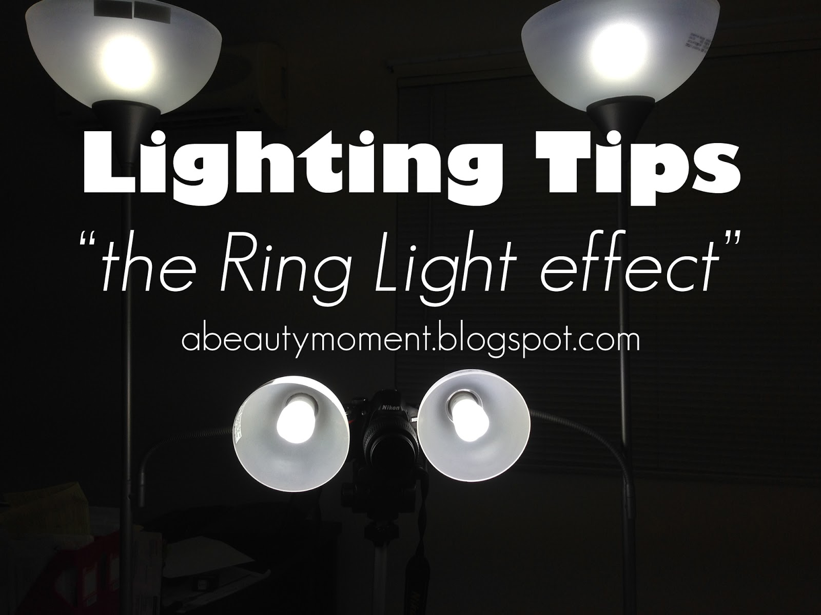 A Beauty Moment Diy Ring Light Effect Photography And Blog Tips