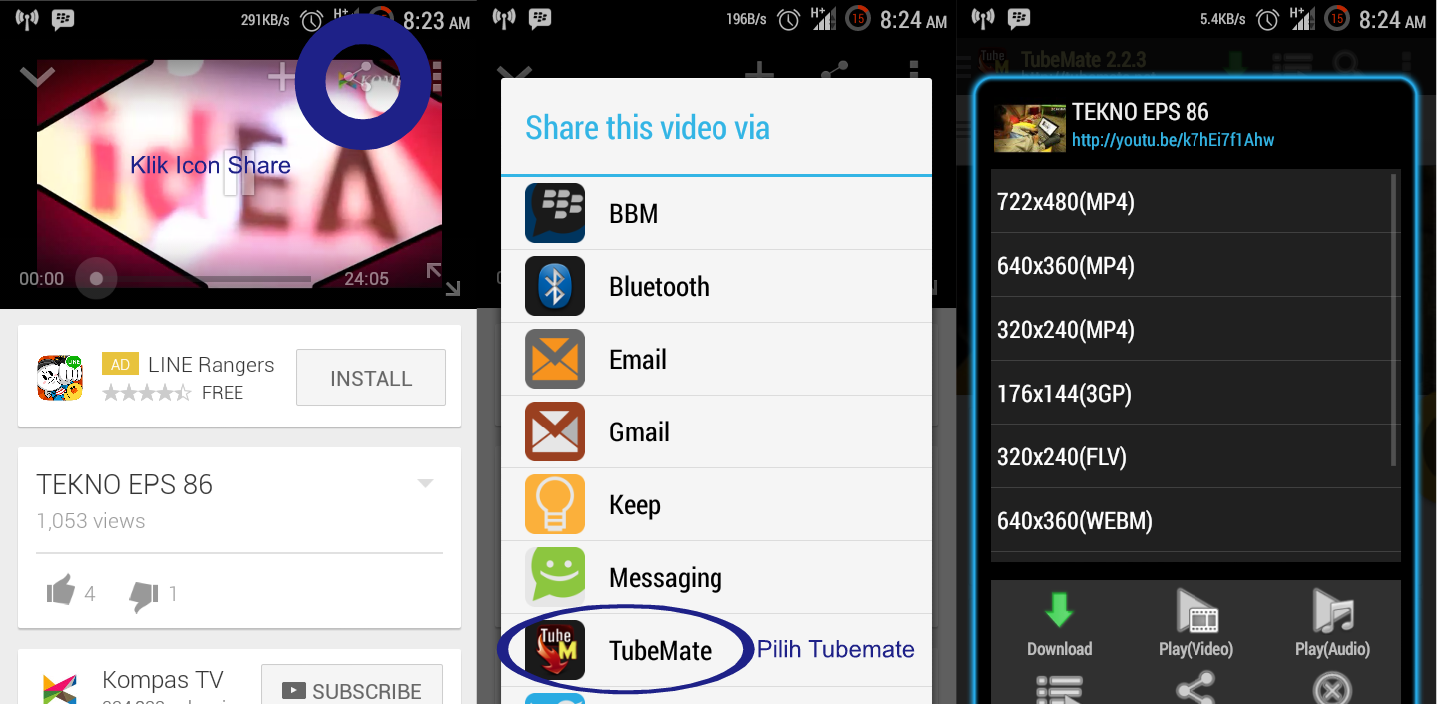 TUBEMATE!! Download Video Youtube Lewat HP Android