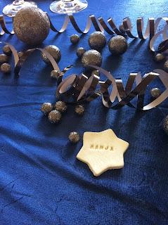 selvtørrende ler navnekort stjerne hvid nytår