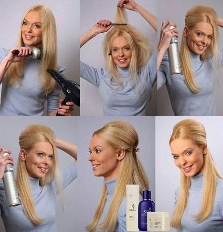 Простые укладки для волос в домашних условиях
