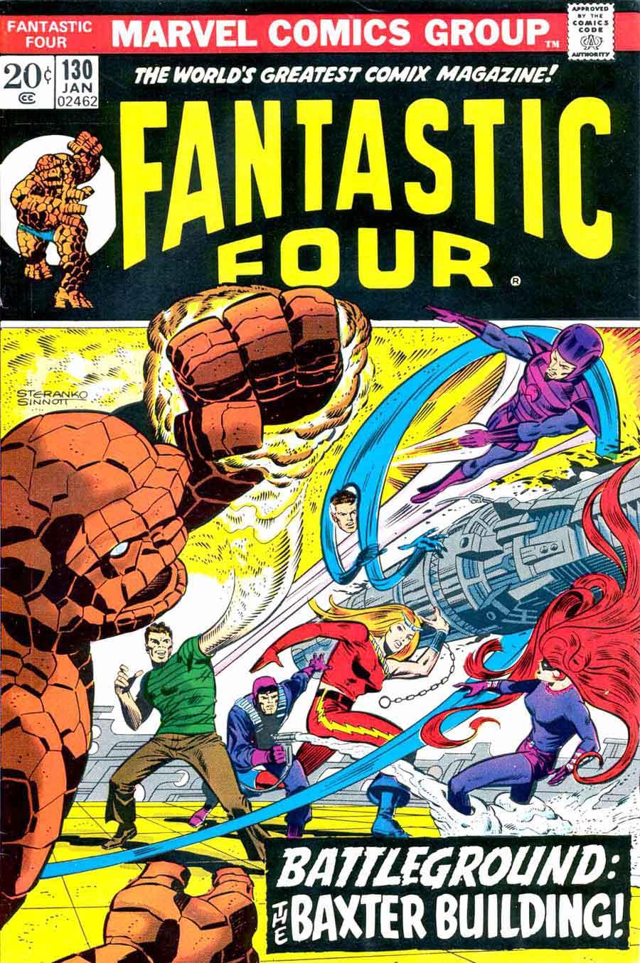 fantastic four   jim steranko cover  pencil ink - fantastc four v  marvel comic book cover art by jim steranko