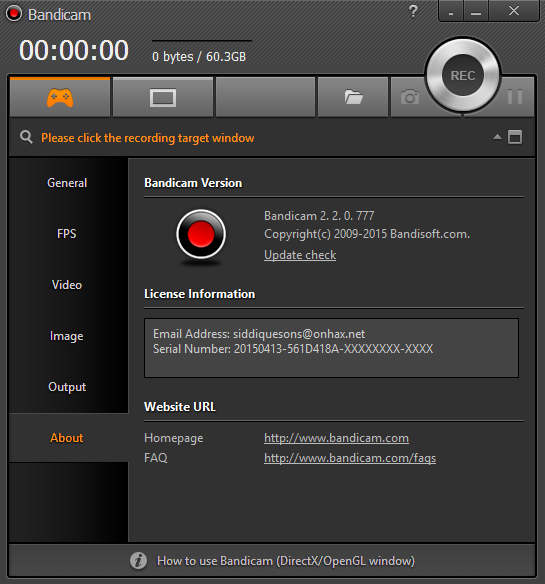 Bandicam 2.2.0.777 Full Keygen