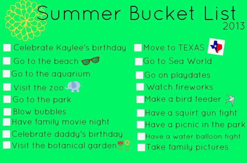 ... party of five 2013 summer bucket list : Fun Things To Do In The Summer