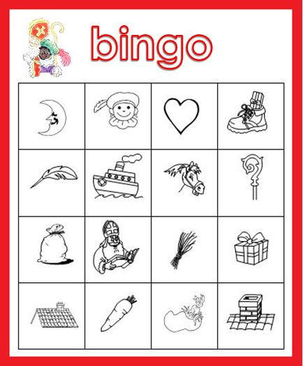 Bekend Kleuterjuf in een kleuterklas: Plaatjes bingo | Thema SINTERKLAAS NL47