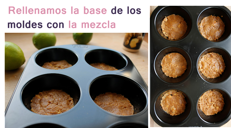 tartaletas de queso y lima mini cheescake