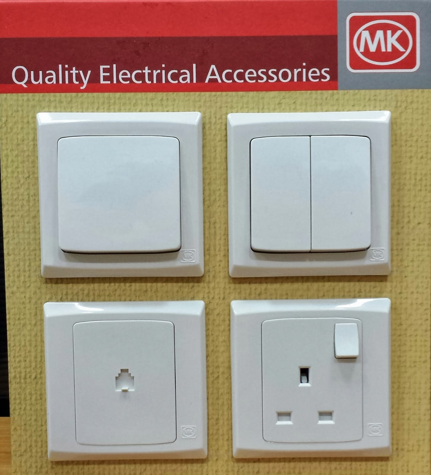 MK Brand Of Sockets & Light Switch