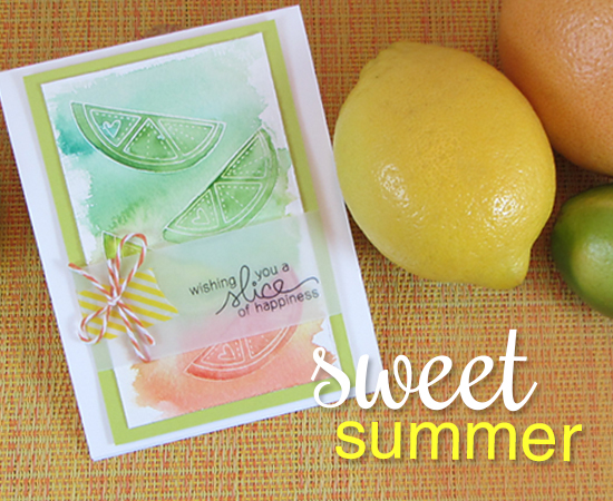 Sweet Citrus Card using Sweet Summer Stamp set | Newton's Nook Designs