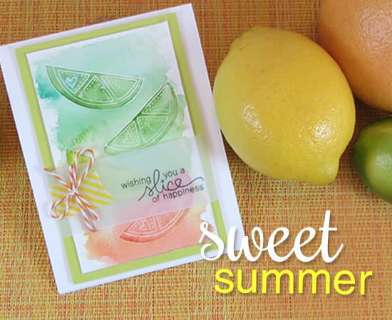 Sweet Citrus Card using Sweet Summer Stamp set | Newton's Nook Designs