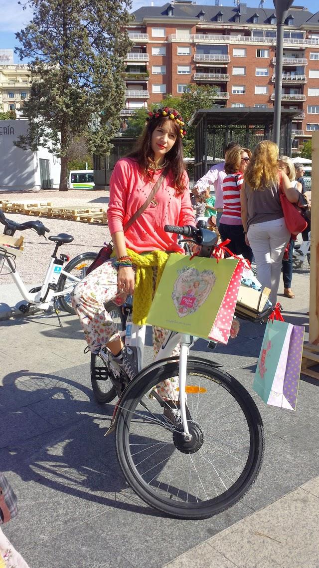 pepita perez pasarela de moda en bici