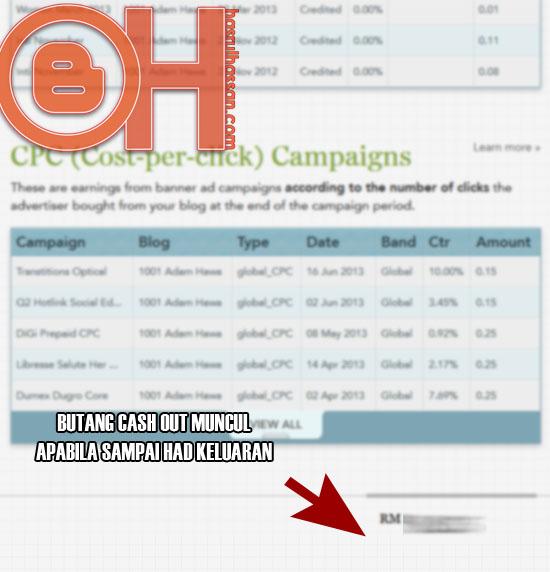 OhBlogger - Cara keluarkan pendapatan - earnings dari Nuffnang